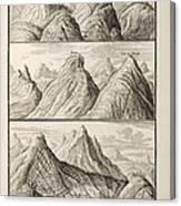 Alpine Geology Flood Evidence Scheuchzer. Canvas Print