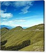 Alpine High Altitude Road In Taiwan Canvas Print
