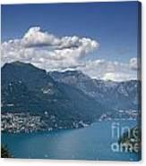 Alpine Lake And Mountains Canvas Print