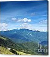 Alpine Panorama In Taiwan Canvas Print