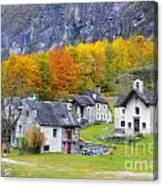 Alpine Village In Autumn Canvas Print