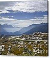 Alps And Road Canvas Print