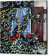 Alsace Window Canvas Print