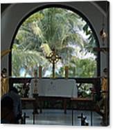 Altar Amid Palms Canvas Print