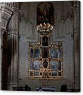 Altar Shadowed And Shining Canvas Print