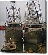 Aluminum Fishing Boats Canvas Print