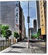 Am And As Downtown Buffalo Vert Canvas Print