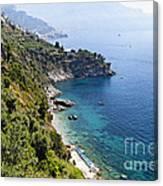 Amalfi Coast At Conca Dei Marini Canvas Print