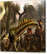Amargasaurus Facing Carnotaurus Canvas Print