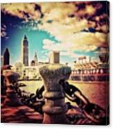 #amazing View Of #dowtown #cleveland Canvas Print