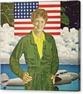 Amelia Earhart Calendar Art Canvas Print
