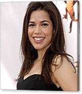 America Ferrera At Arrivals For How To Canvas Print