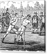 American Boxing, 1859 Canvas Print