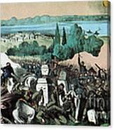 American Civil War, Battle Of Baton Canvas Print