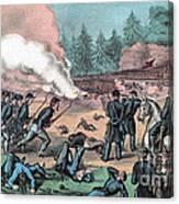 American Civil War, Battle Of Cold Canvas Print