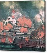American Civil War, Great Fight Canvas Print