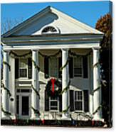 American Colonial Architecture Christmas  Canvas Print