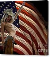 American Cowgirl Canvas Print