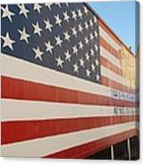 American Flag At Nathan's Canvas Print