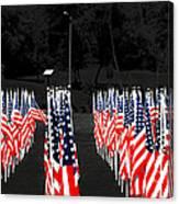 American Flags Canvas Print