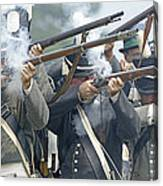 American Infantry Firing Canvas Print