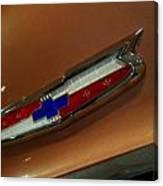 Chevrolet Hood Emblem Canvas Print