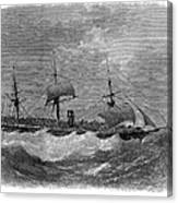 American Steamship, 1870 Canvas Print