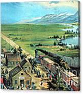 American Transcontinental Railroad Canvas Print