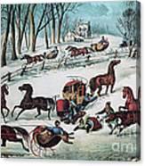 American Winter 1870 Canvas Print