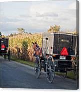 Amish Buggies October Road Canvas Print