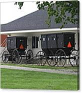 Amish Buggies Parked Canvas Print