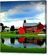 Amish Farm Canvas Print
