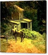 Amish Lane Canvas Print