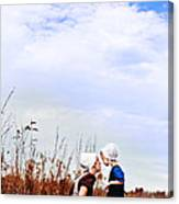 Amish Mother And Child Canvas Print