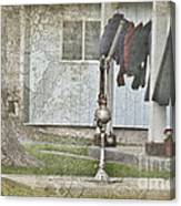 Amish Pump And Cup Canvas Print