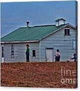 Amish School Canvas Print