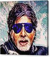Amitabh Bachchan - God Of Bollywood Canvas Print