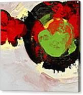 Amorphous Movement Of Wa-ja-rata Mural Study 111347-61649 Canvas Print