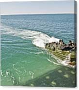 Amphibious Assault Vehicles Enter Canvas Print