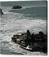 Amphibious Assault Vehicles Transit Canvas Print