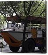 Amphibious Vehicle Used For Ducktour In Singapore Canvas Print