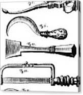 Amputation Instruments, 1772 Canvas Print