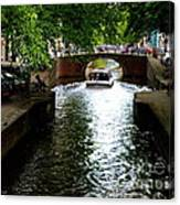 Amsterdam By Boat Canvas Print