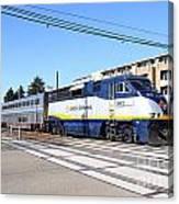 Amtrak Train 7d7310 Canvas Print