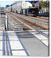 Amtrak Train 7d7317 Canvas Print