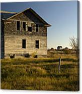 An Abandoned Hospital Stands Alone Canvas Print