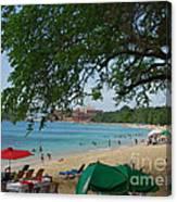 An Active Sosua Beach In Dr Canvas Print