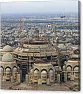 An Aerial View Of Saddam Hussiens Great Canvas Print
