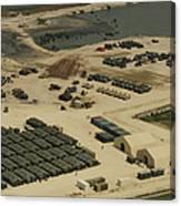 An Aerial View Of The White Beach Canvas Print