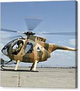 An Afghan Air Force Md-530f Helicopter Canvas Print